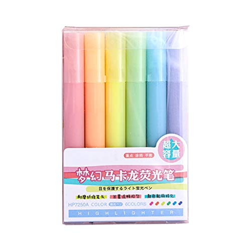 ShiftX4 6 unids/set rotulador fluorescente pastel bolígrafos para diario escuela oficina suministros