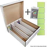 TCG 4 Aufbewahrungboxen - Deck-Boxen für je 4000 Karten (Magic / Pokemon / YuGiOh Karten)