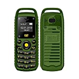 Gobutevphver Teléfono móvil Super Mini 0.66 Pulgadas 2G Teléfono móvil B25 Auricular inalámbrico BT Auriculares Manos Libres Teléfono Celular Desbloqueado Tarjeta SIM Dual - Enchufe Verde de la UE