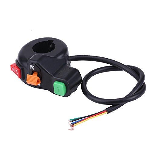 Interruptor del manillar de la motocicleta, Luz de manillar universal de 22 mm Señal de giro Faros delanteros Conmutador de encendido/apagado Interruptores de agarre