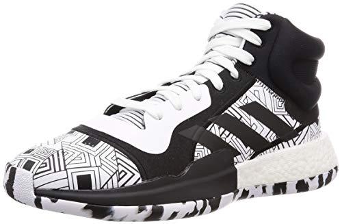 Adidas - Scarpe da basket Marquee Boost, da uomo, colore: Nero/Bianco, multicolore, 40 2/3 EU