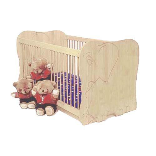 silenta Babybett Elefant gefertigt nach EN 716-1 Kiefer Massivholz aus nachhaltiger Waldwirtschaft