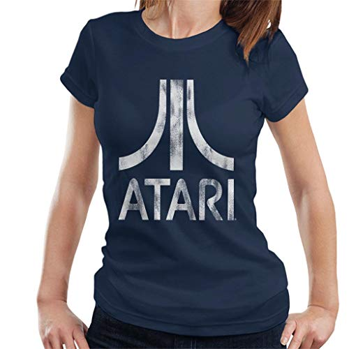 Atari Distressed White Logo Women's T-Shirt