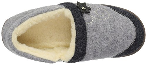 Acorn Women's Boiled Wool Edelweiss Slipper Moccasin, Heather Grey, 6 M US