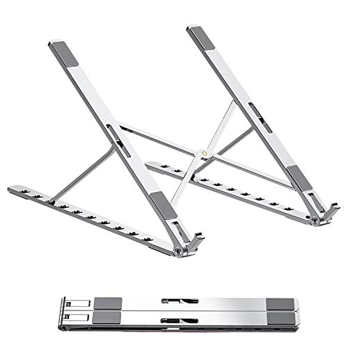 Laptop Stand, Computer Holder Stand, 10-Height Adjustable Notebook Stand, Aluminum Ventilated Stand, Office Stand Foldable Compatible for MacBook Pro/Air, 10-17.3' Notebook and Tablet,MateBookotebook
