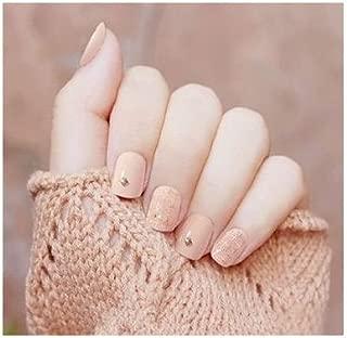 TBOP FAKE NAIL art reusable French long Artifical False nails 24 pcs set in Light yellow color