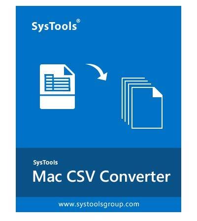 SysTools Convertitore Mac CSV (Consegna e-mail-Nessun CD)