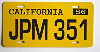 American Graffiti 1958 58 Impala METAL LICENSE PLATE JPM 351 FITS CHEVY CHEVROLET TAG 6 X 12 MOVIE HOT Rod Muscle CAR Classic Museum Collection Novelty Gift Sign GARAGE MAN CAVE