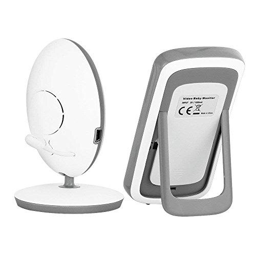 KYG Moniteur Bébé Babyphone Vision Nocturne Caméra Vidéo Bébé avec 2.4 GHz Bidirectionnel...