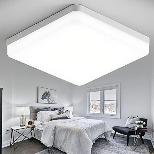 YOODI LED Plafoniera da Bagno 36W, Lampada da Soffitto LED, Bianco Freddo 6000K, plafoniera a filo luminoso 3240LM per camera da letto 23CM, impermeabile IP54, per cucina, soggiorno