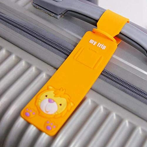 Travel Accessories Silica Gel Luggage Suitcase Tag Id Address Holder Baggage Label Identifier Cute Cartoon Hello Kitty Duck,2