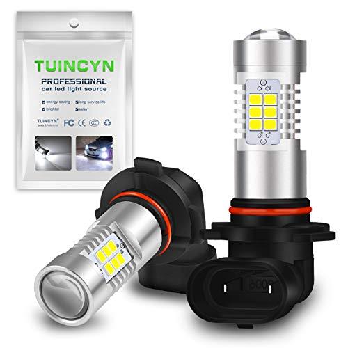 TUINCYN 9006 HB4 Ampoule antibrouillard LED DRL Remplacement de la Lampe 2835 21SMD 6500K Blanc xénon LED extrêmement Brillante Conduisant des Feux de Jour 10.5W DC 12V (Pack de 2)