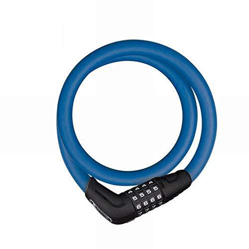 【日本正規品】 ABUS(アブス) 自転車 鍵 ロック ロードバイク鍵 ケーブルロック ダイヤル式 2年保証 85cm ブルー [NUMERINO 5412C]