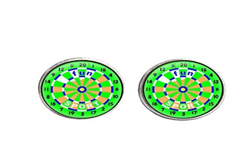 Dart Board Target Art - Pendientes de cristal para hombre y mujer
