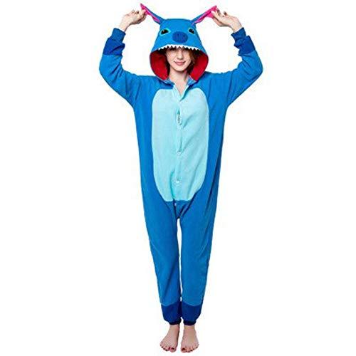 Animal pijama Pijama de una pieza for las mujeres ropa de noche del partido de la historieta for adultos hombres Cospaly de invierno pijamas traje de trabajo del juego del botón animal pijamas