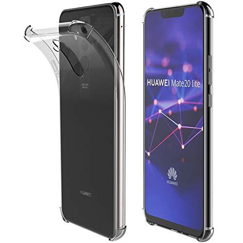 ebestStar - Cover Compatibile con Huawei Mate 20 Lite (2018) Custodia Protezione Silicone Gel TPU Morbida e Sottile Bordi Rinforzati, Trasparente [Apparecchio: 158.3 x 75.3 x 7.6mm, 6.3'']