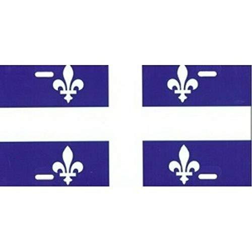Inga Nummernschild Quebec-Flagge, personalisierbar, 15,2 x 30,5 cm