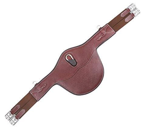 EW Cincha de vientre de cuero ecuestre para caballos -8018 (115cm, Habana)