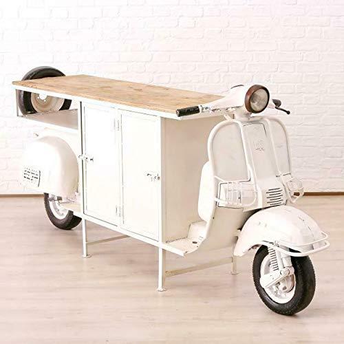 Genialer Roller Tisch Boltze 244cm Bar Regal Sideboard Schrank Vespa Motorrad