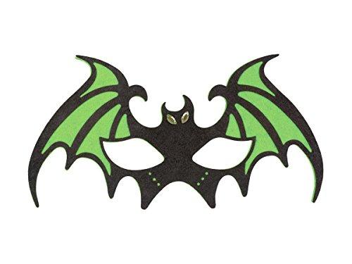 Masque chauve souris batman en feutrine souple de qualité supérieure adulte et ados Idée de Déguisement pour Soirées et Fêtes Déguisées à Thème, Halloween, Carnaval, Bal Masqué, choisir:97522 chauve-souris vert