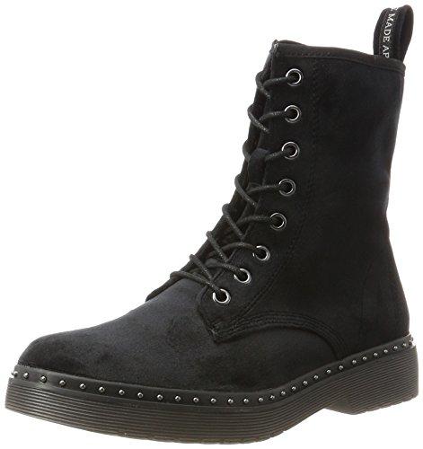 Tamaris Damen 25718 Combat Boots, Schwarz (Black Velvet), 38 EU