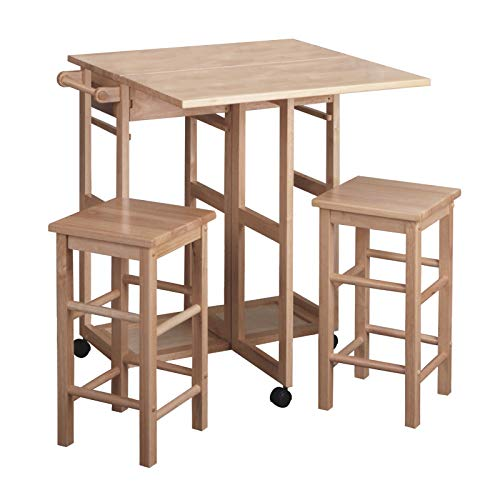Hot Sale Winsome Wood Table Drop Leaf Square Stool, Natural