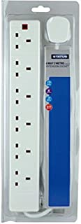 Status 2 M 6-Way Individually Switched Surge Protection Extension Socket with Neon Indicator - White