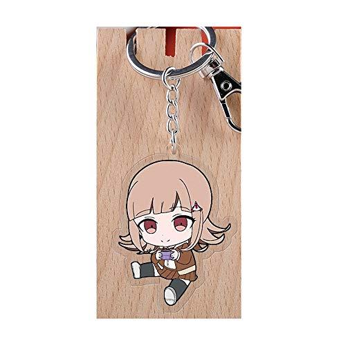 Davrcte Danganronpa Cute NanamiChiaki Key Chains Acrylic Keychain Anime Figure Keyring Key Buckle Anime Car Pendant Acrylic Key Charms