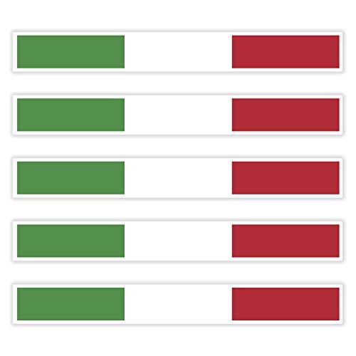 benobler 5 x Aufkleber Italien f. KFZ Auto Motorrad Boot Flagge Fahne Italia