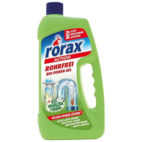 Rorax Rohrfrei Bio-Power-Gel, Abflußreiniger - 1 L