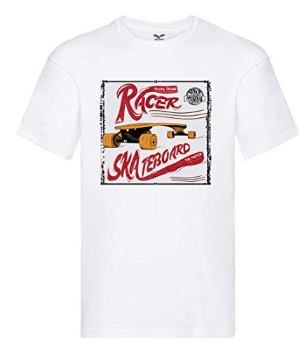 T-Shirt - Racer Skateboard Skater Hobby - Tshirt für Herren und Männer
