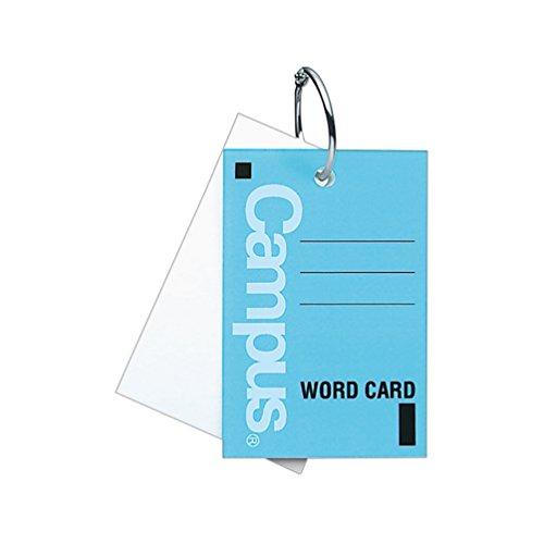 コクヨ『キャンパス 単語カード大 カードリングとじ40枚(104B)』