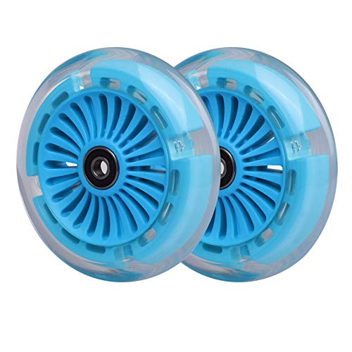 120 mm 3 Räder Roller vorne LED beleuchtet Ersatzräder, Kinderroller-Set für Micro Kickboard Mini, Maxi Deluxe,...