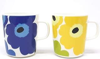 マリメッコ UNIKKO(ウニッコ)マグカップ/青、黄色 セット