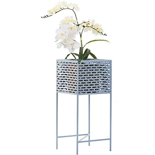 DX Indoor Outdoor Metall Blumen Pflanzen Topf Ständer Rack Regal für Balkon Schreibtisch HUA0419J (Farbe: Blau)