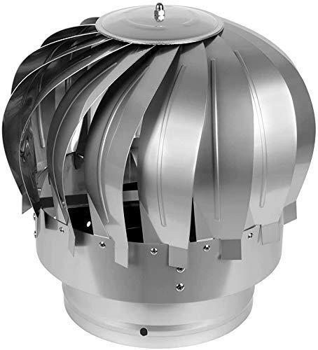 WYJW Spinner de ventilación Giratorio, Techo de fábrica de Acero Inoxidable, Tapa Antideslizante para Chimenea, se Adapta a la mayoría de Las chimeneas estándar Ventilador de turbina gi