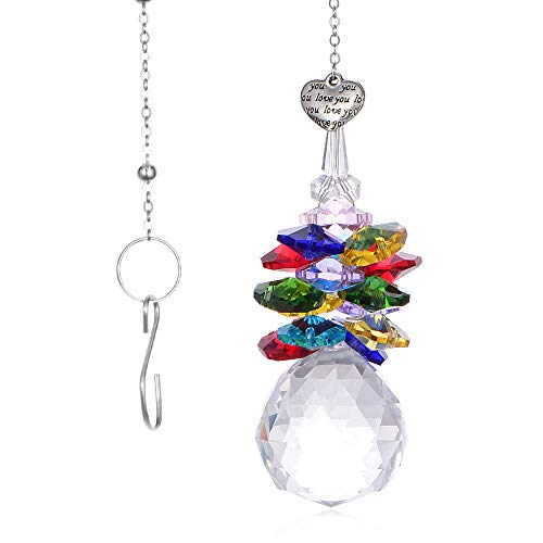 SHINY HANDLES 30mm Crystal Glass Pendant Ornaments Prism Suncatcher Crystal Hanging Décor for Window