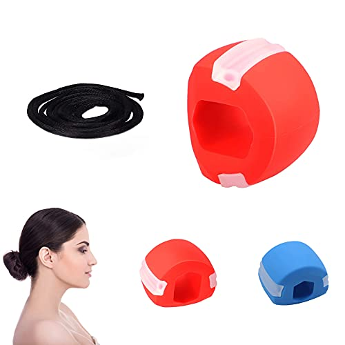 2 Stück Jaw Exerciser, Jaw Exerciser Chew, Jawline Trainer, Jaws Exercise Fitness Ball, Double Chin Exerciser Ball, Jawline Gymnastikball (2)