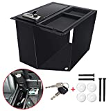 3mirrors Center Console Gun Safe Storage Box, with 4-Digit Combo Lock, 2 Keys, Organizer Coin Tray, mat Compatible with Toyota Tundra 2014-2020(Models with Bucket Seats & Center Console ONLY!)