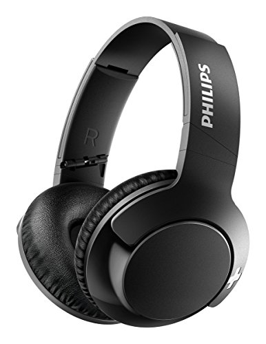 Philips Audio Bass+ SHB3175BK Wireless Bluetooth Over The Ear Headset with Mic (Black)