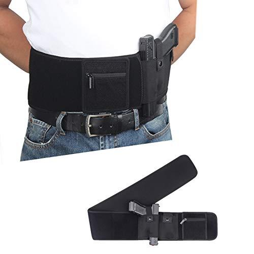 N \ A Funda para cinturón para el Vientre para Transporte Oculto - Funda de Neopreno Transpirable para la Cintura para Hombres y Mujeres para la mayoría de Pistolas y revólveres (Hombres y Mujeres)