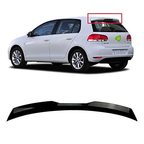 ACEOLT ABS Auto Spoiler Heckspoiler für Volkswagen VW Golf 6R 6 GTI R, Punch Free Glued Adhesive und einfach zu installieren, schwarz