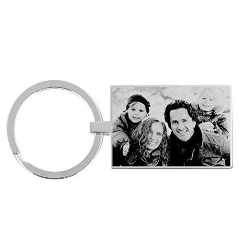 Sleutelhanger graveren met foto - Rechthoek