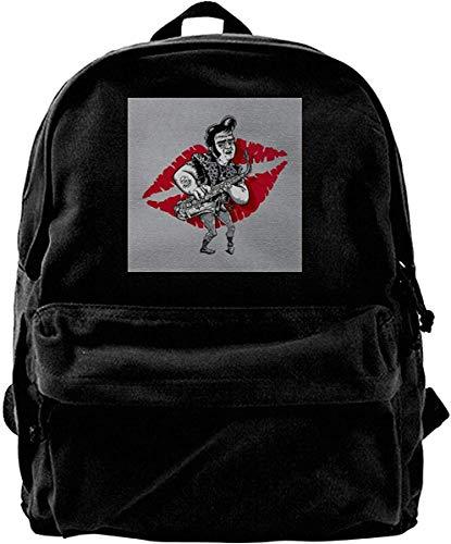 Homebe Mochila antirrobo Impermeable,Canvas Backpack Rocky Horror Picture Show Eddie Rucksack Gym Hiking Laptop Shoulder Bag Daypack for Men Women