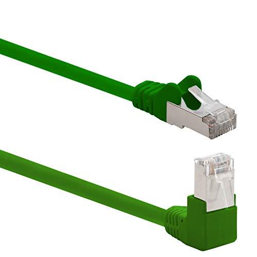 1aTTack.de 366183 Cat.6 Netzwerkkabel Winkel 90 Grad 2m - grün - 1 Stück - Cat6 Patchkabel (SFTP PIMF) 1000Mbit/s Rj 45 Stecker - 1 x 2m Meter grün