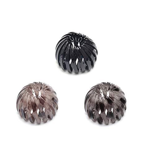 Qisen 3piezas Titular de cola de caballo, Cintas para el pelo para mujer, soporte para cola de caballo, nido de pájaros, coleteros para el pelo, accesorio para el pelo, horquillas para mujeres