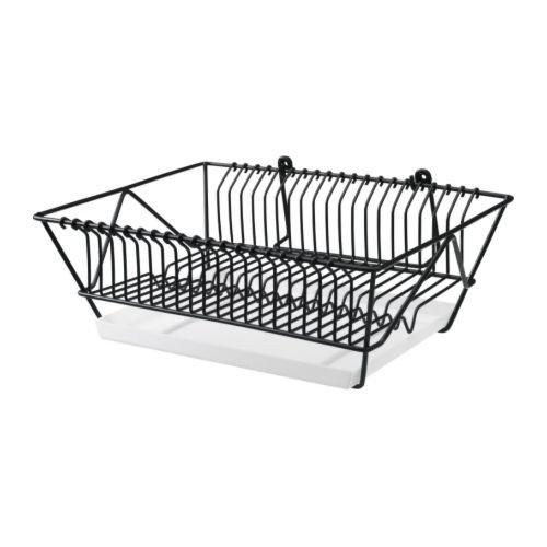 IKEA FINTORP Abtropfgestell in schwarz; verzinkt