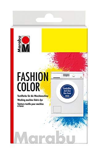 Marabu 17400023053 - Fashion Color, Textilfarbe zum Färben in der Waschmaschine, kochecht, für Baumwolle, Leinen und Mischgewebe, 30 g Farbstoff und 60 g Reaktionsmittel, dunkelblau