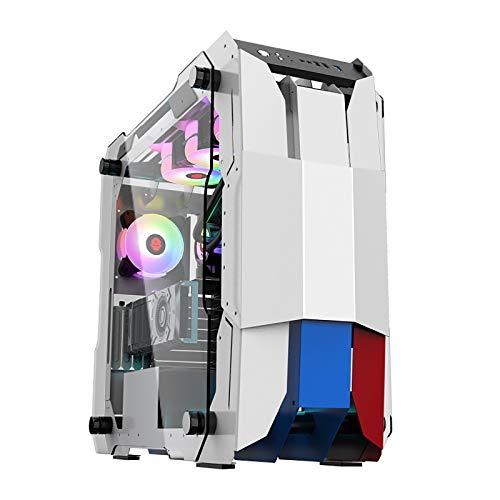 XINKO Caja de la computadora de la PC con Panel Lateral de Vidrio Templado, Compatible con E-ATX, 8 Ventiladores, refrigeración por Agua 360