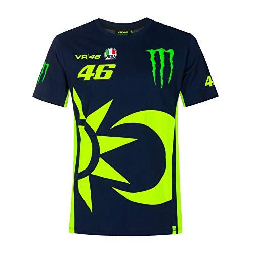 Valentino Rossi T-Shirt, Monster Sponsor Sonne & Mond Offiziell 2020